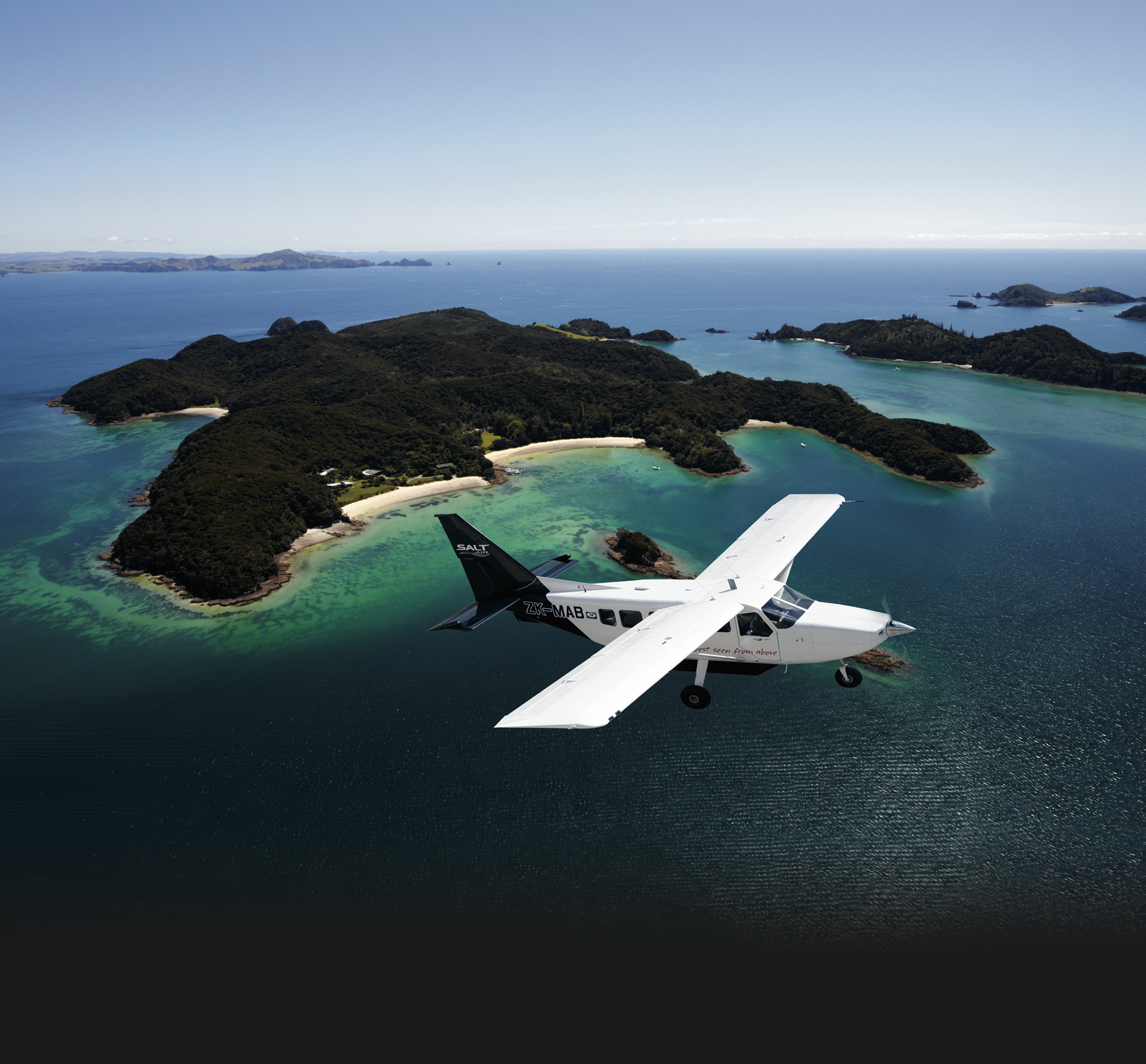 Blick auf Moturua Island