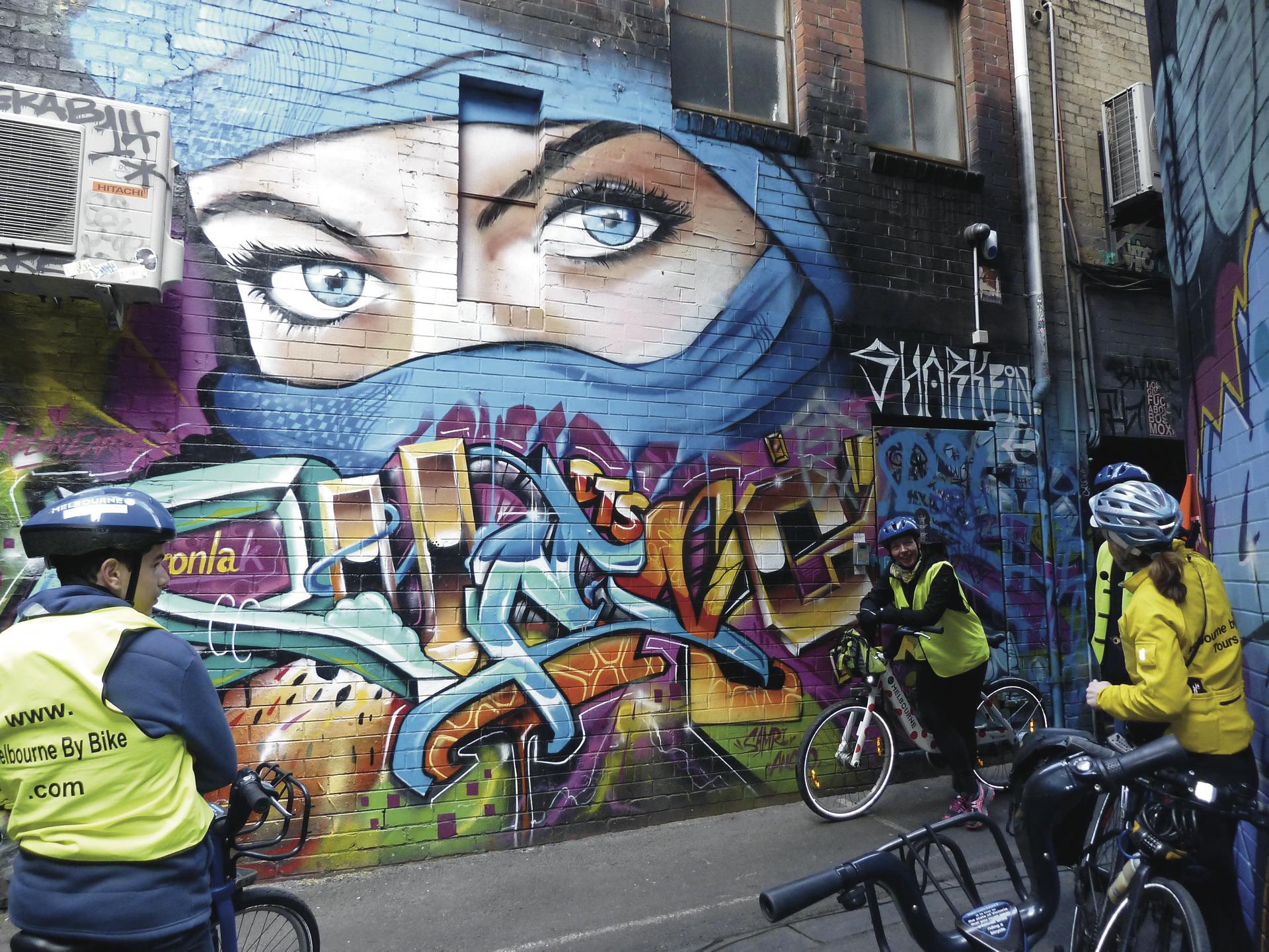 Graffitis in Melbournes Gassen