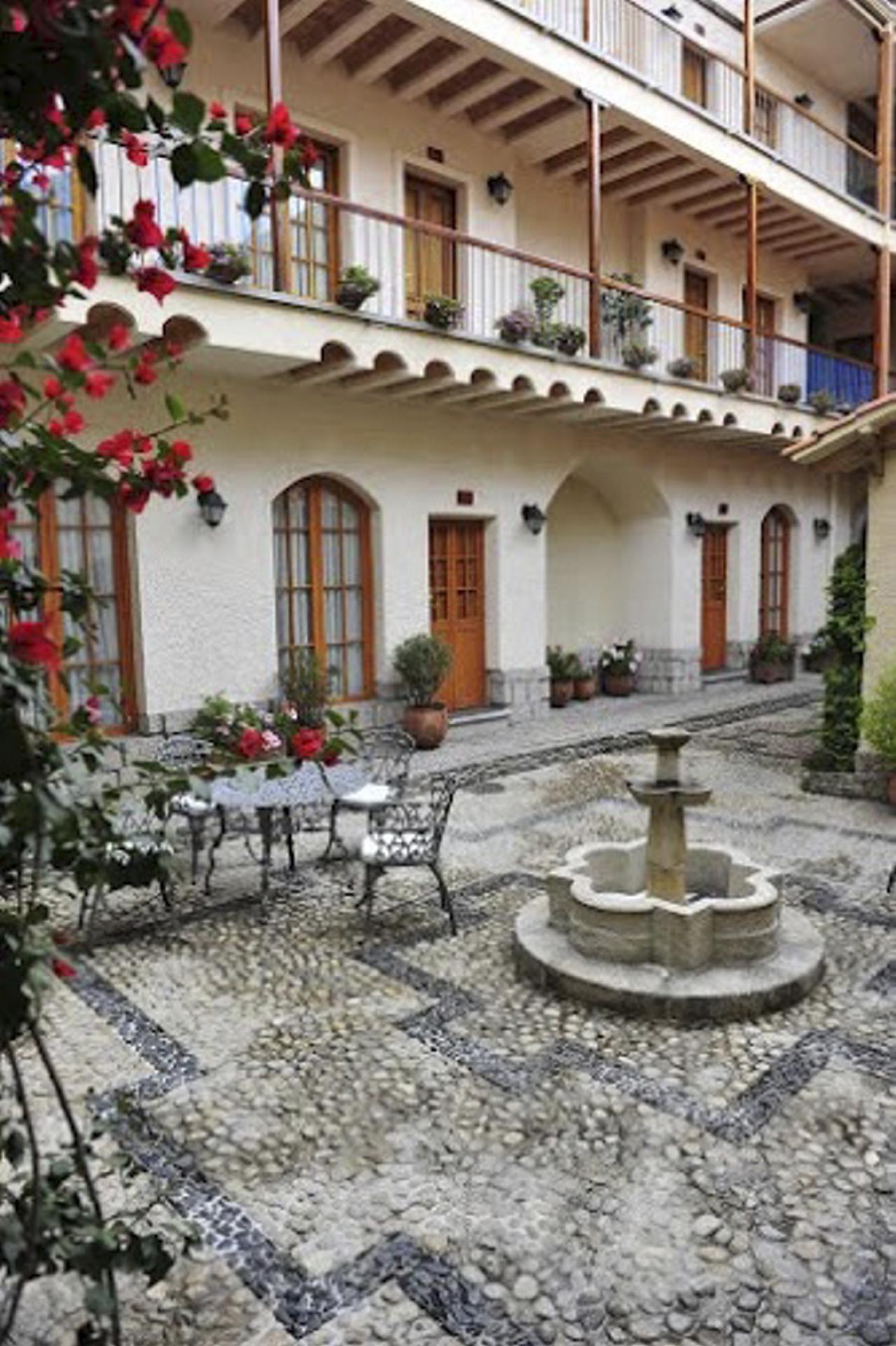Innenhof Hotel Rosario