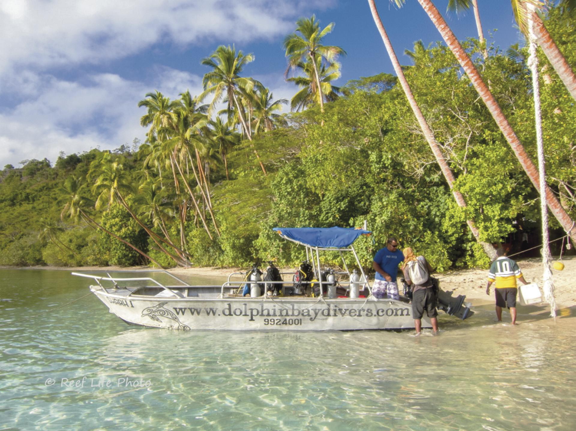 Beim beladen des Tauchbootes