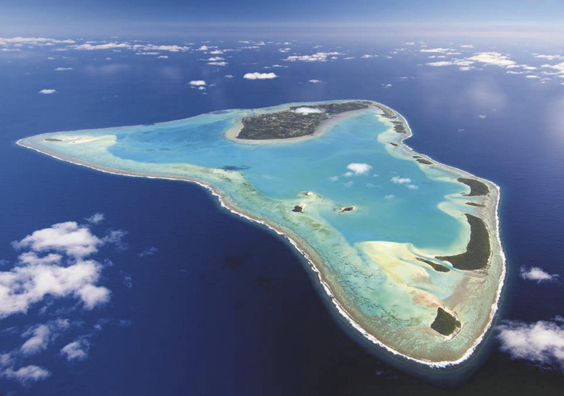 Aitutaki aus der Luft