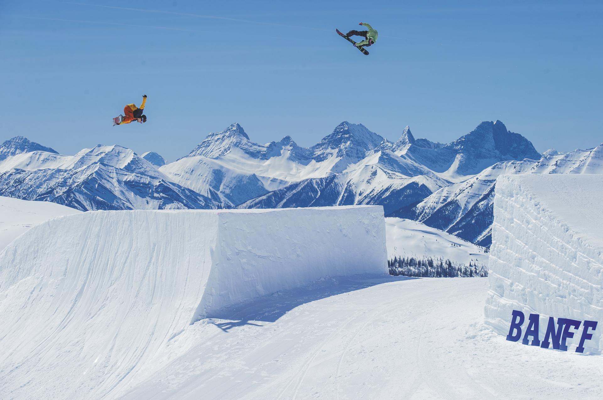 Snowboard Park in Banff