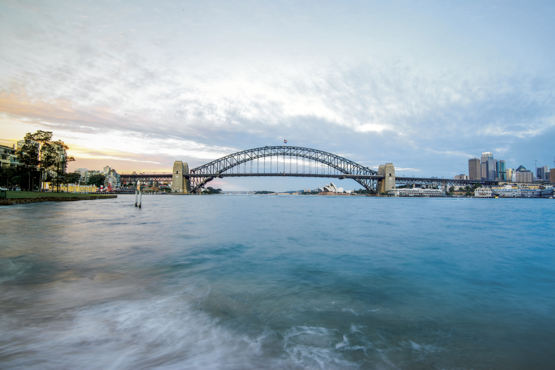 Sydney Skyline, Harbour Bridge und Oper