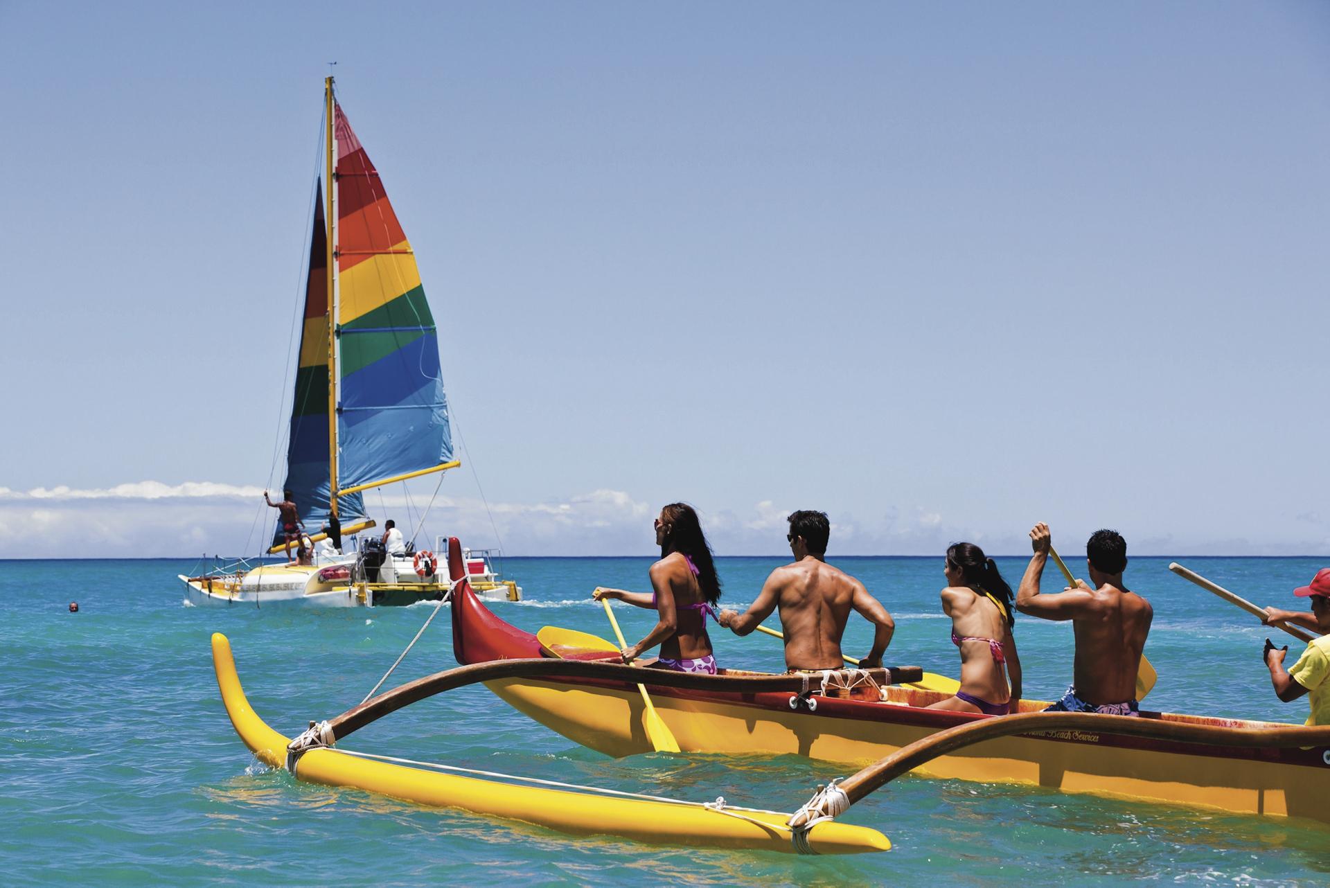 Aktiv auf Oahu