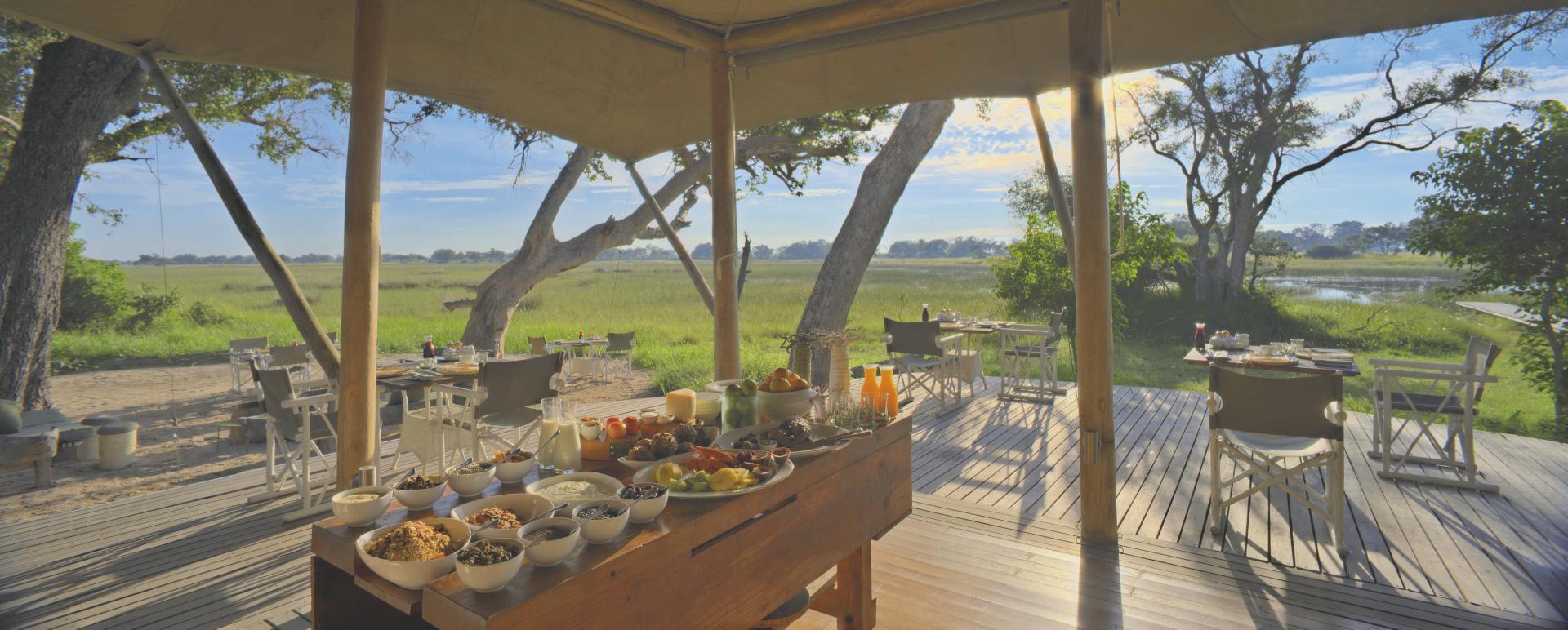 andBeyond Xaranna Okavango Delta Camp Lounge