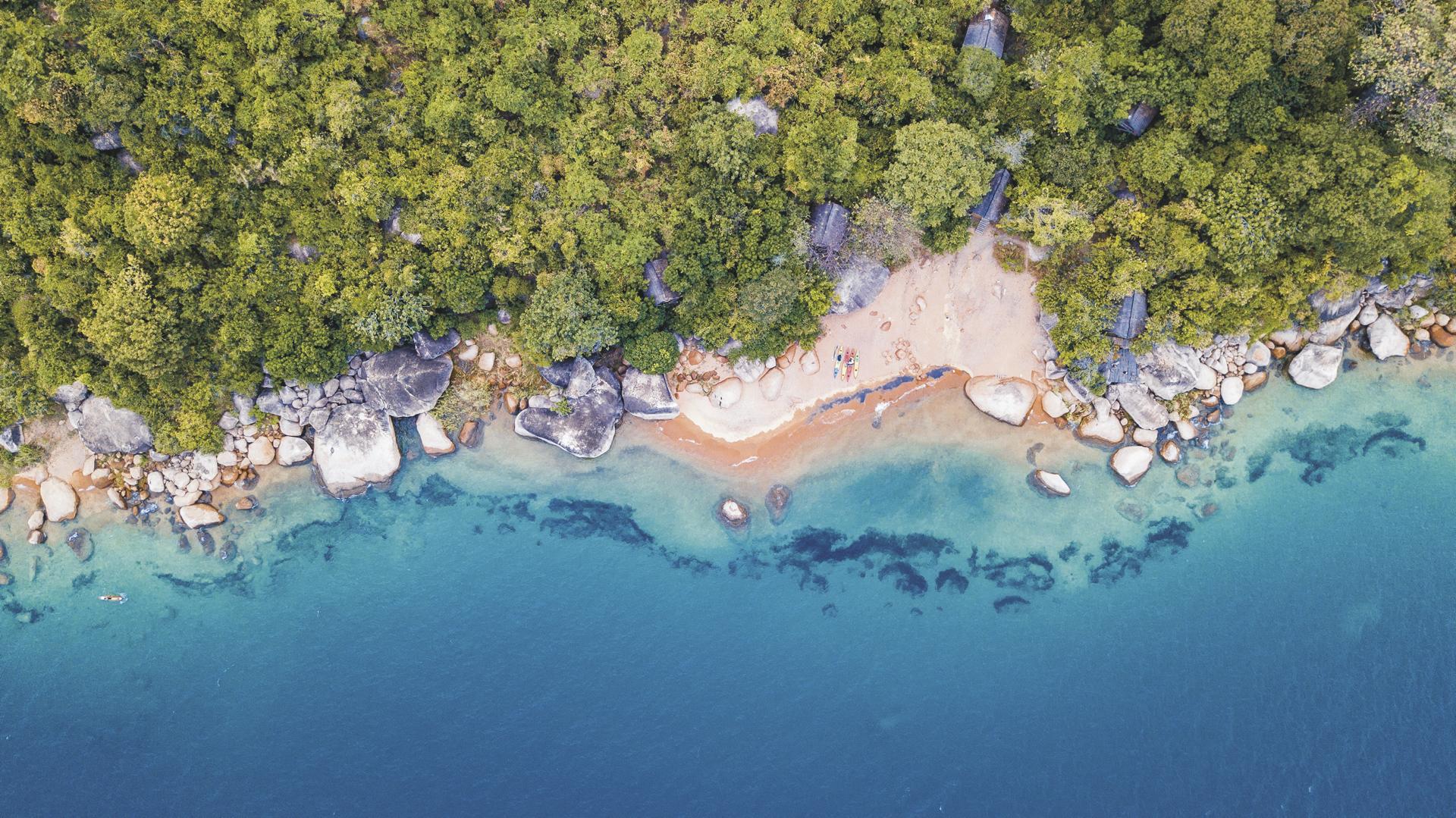 Glasklarer Malawisee