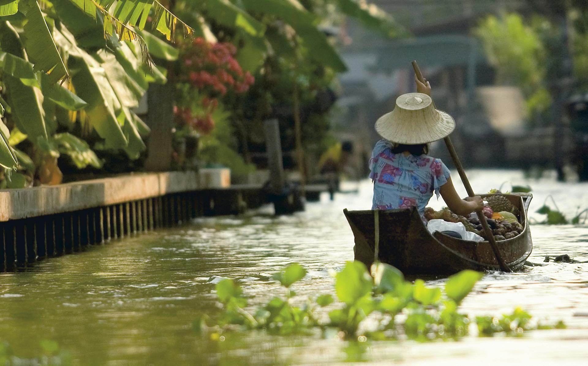 Unterwegs in den Klongs von Bangkok
