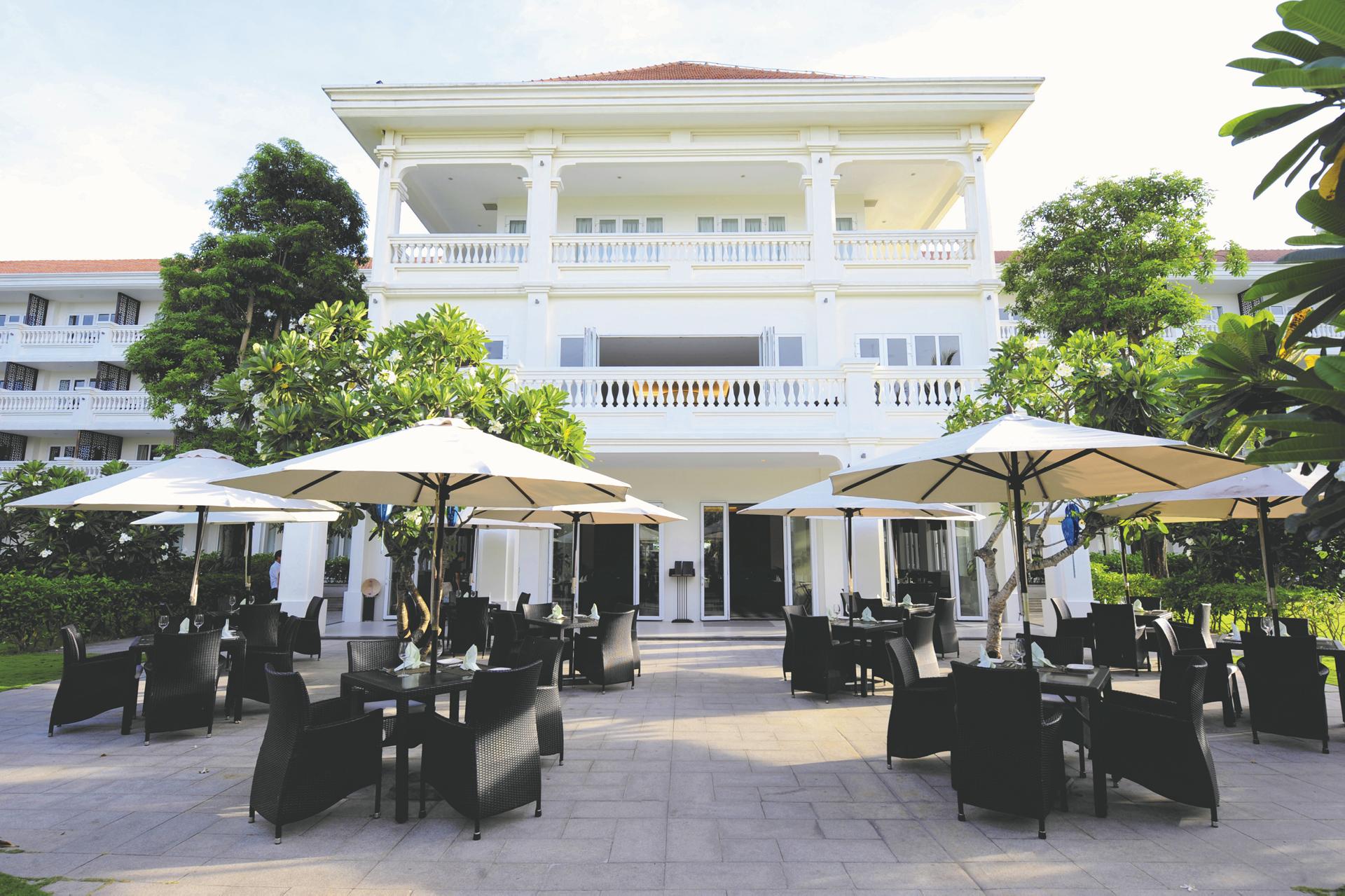 Caféterrasse des Boutique Hoi An Resorts
