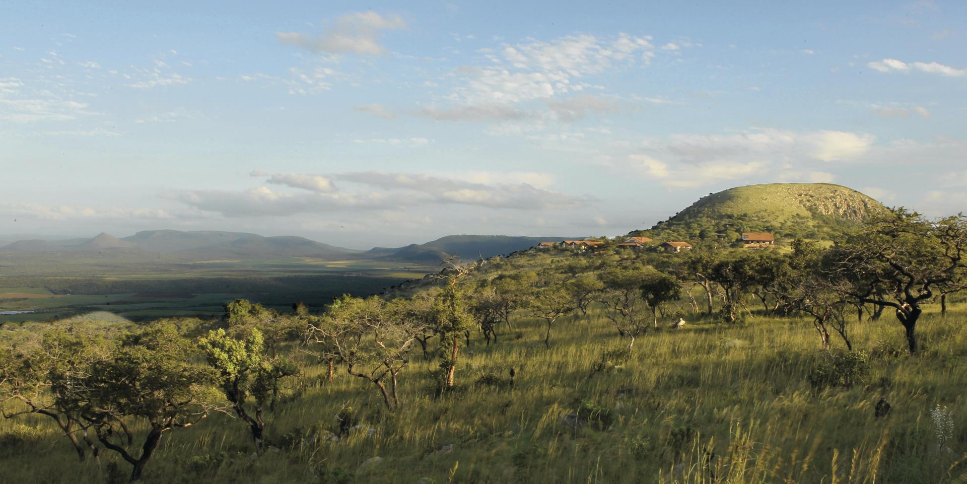 Sanfte Hügel im Zululand