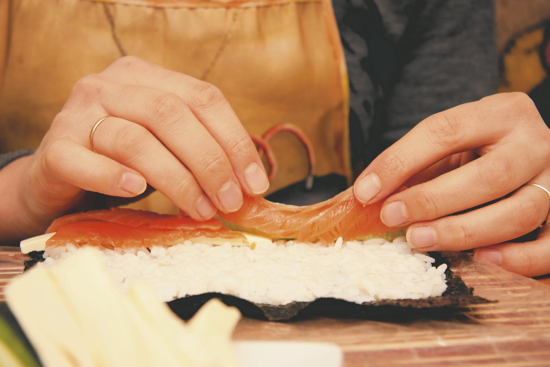 Sushi Herstellung