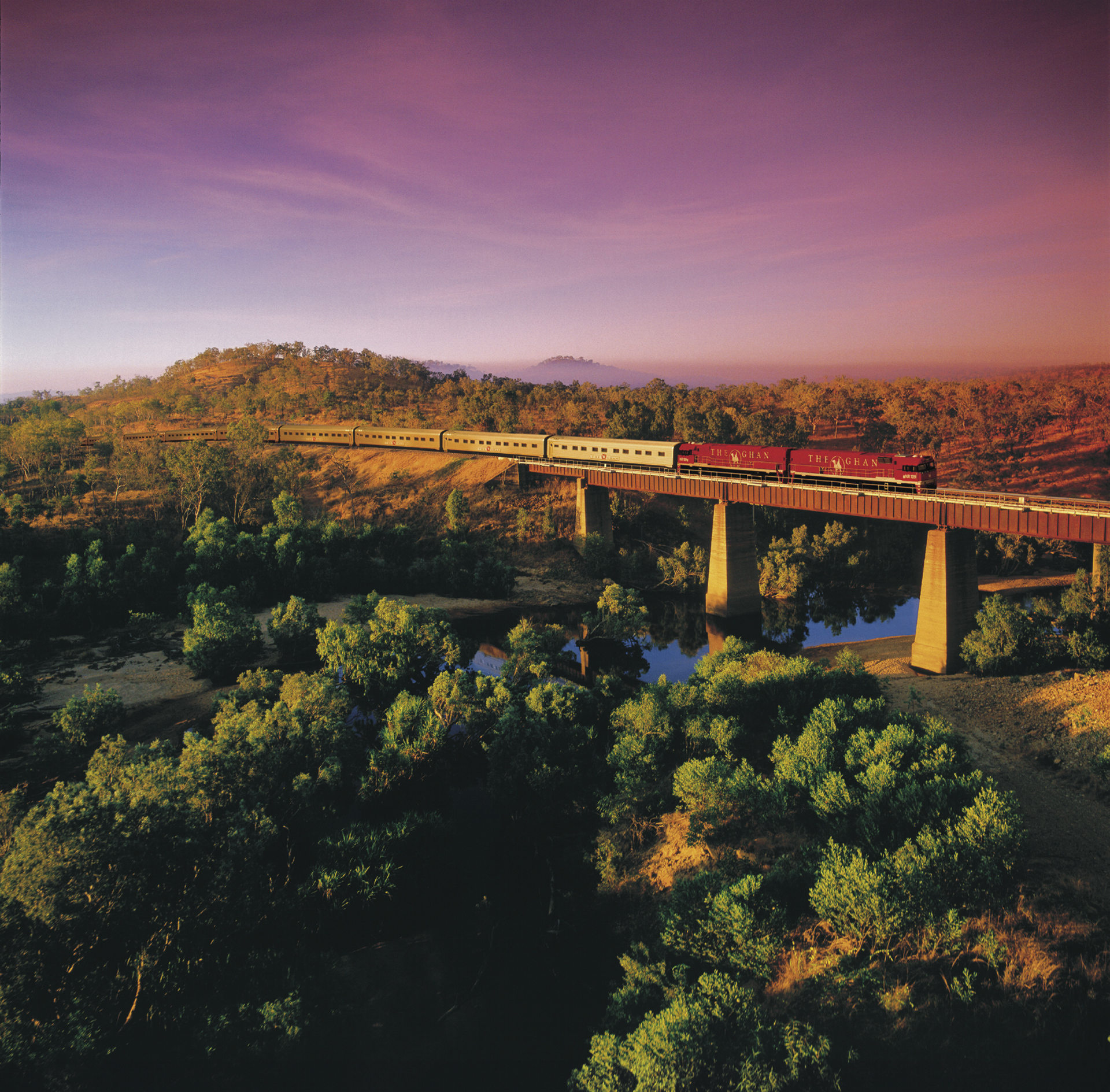 Ghan auf der Ferguson River Brücke