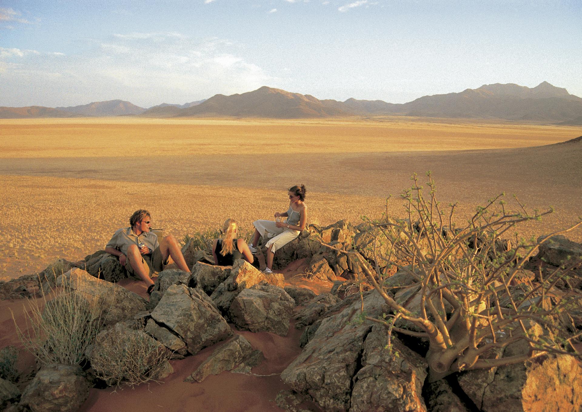 Sonnenuntergang im NamibRand Nature Reserve