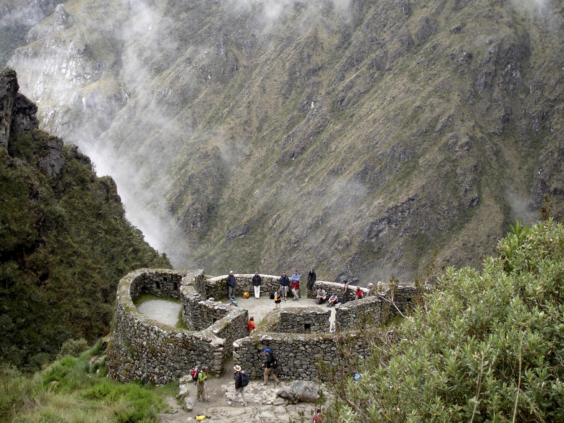 Ruine auf dem Inka Trail