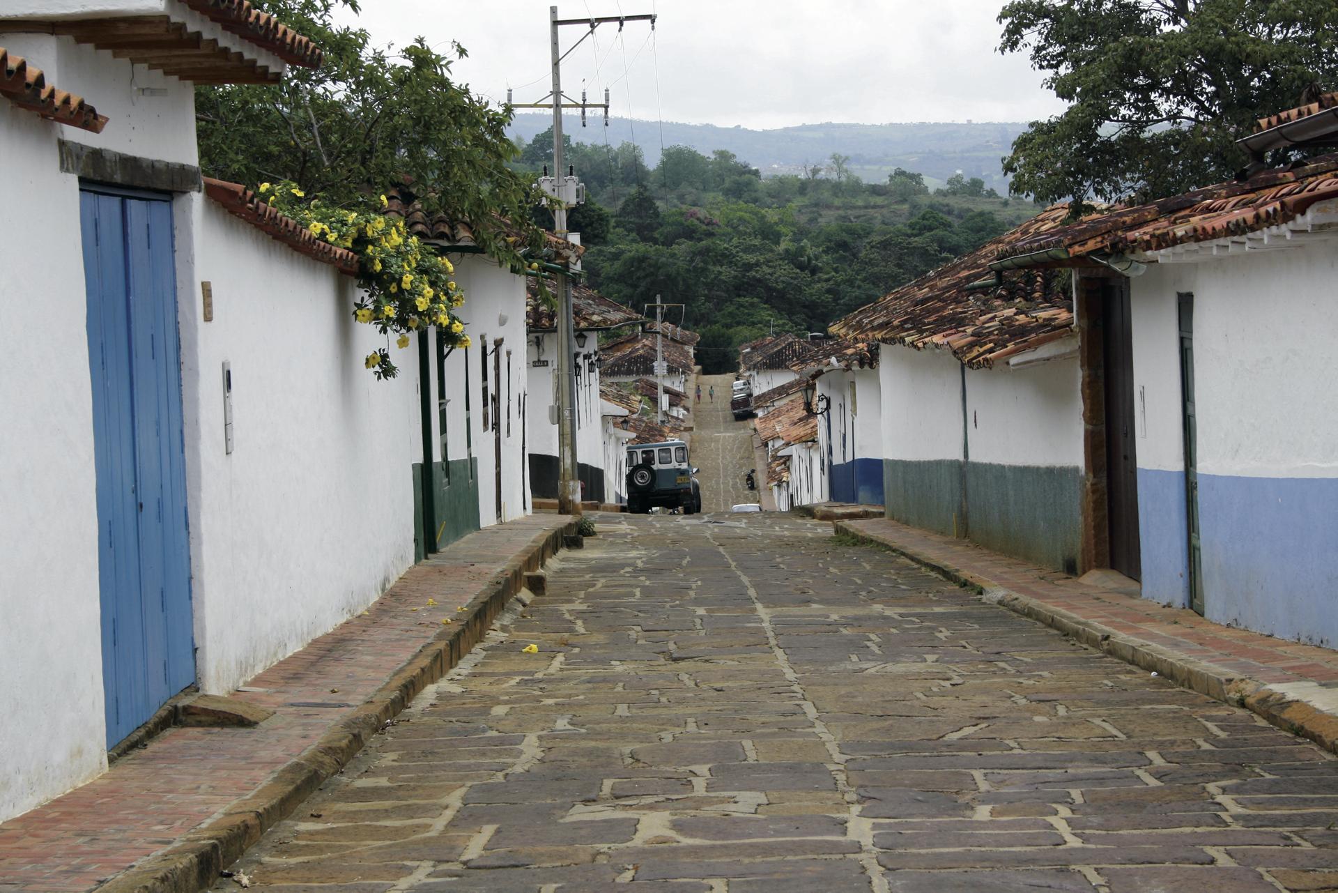 Straßenbild in Barichara