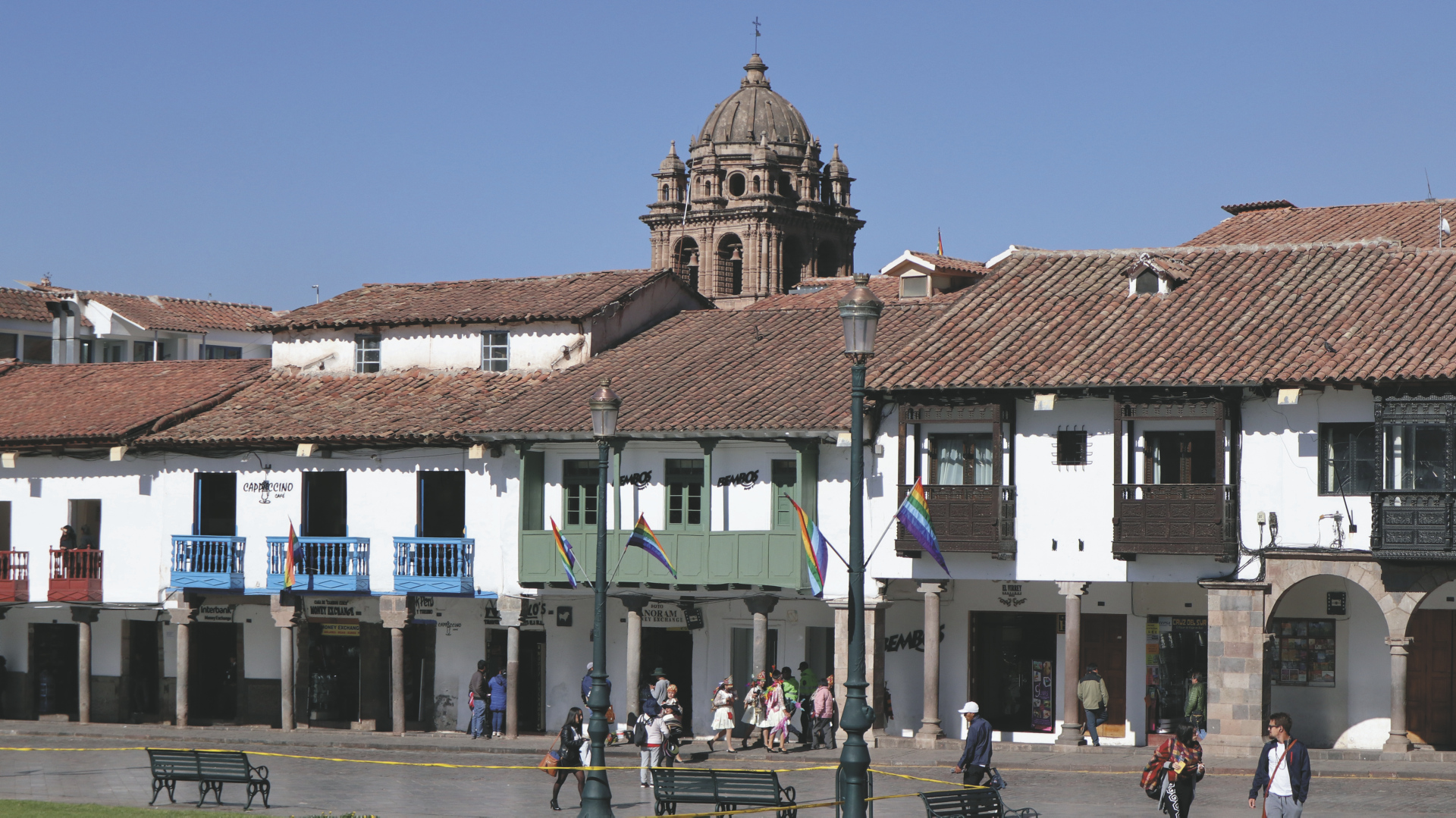 am Hauptplatz von Cusco
