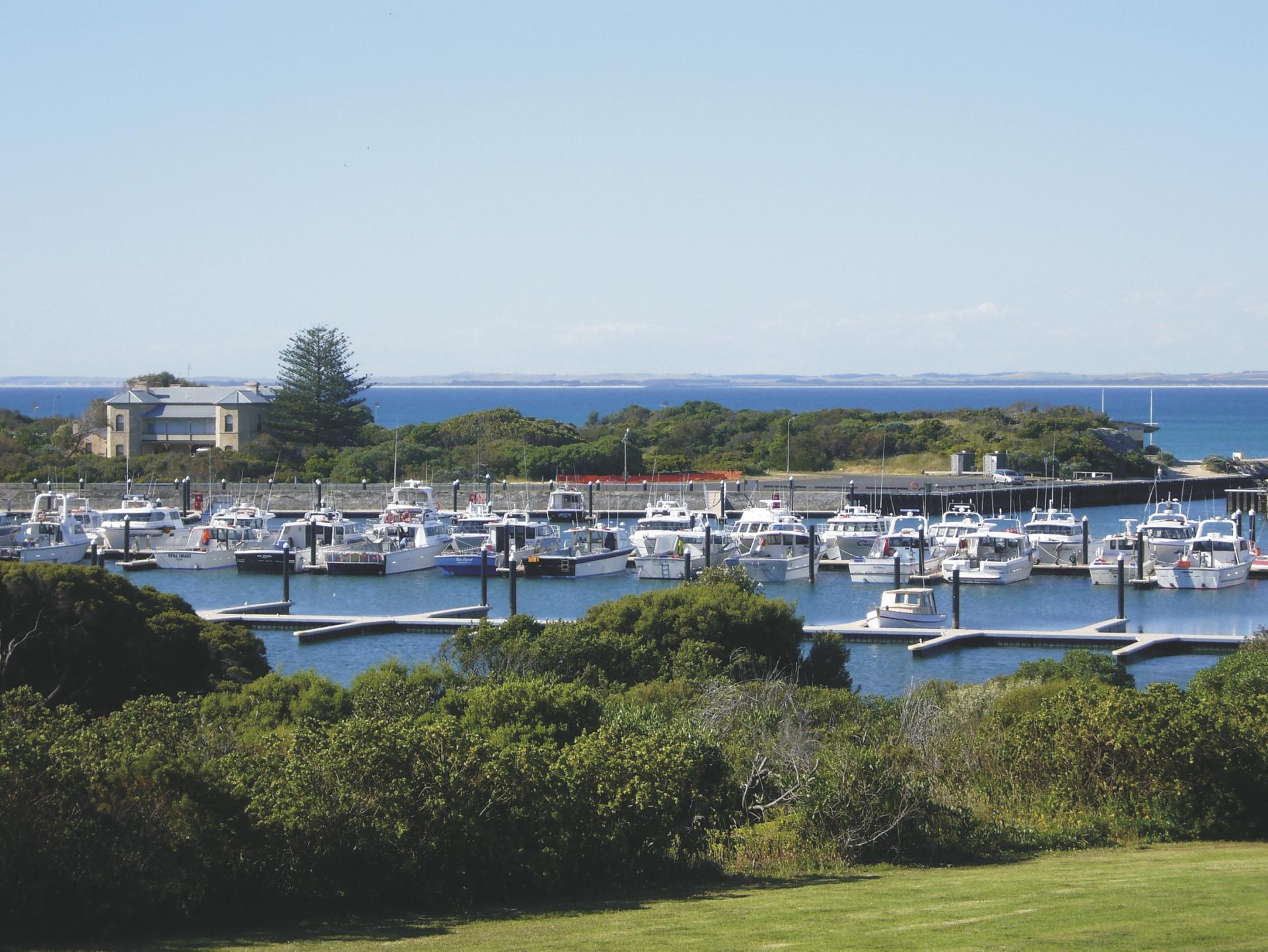 Blick vom Harbour View Motel
