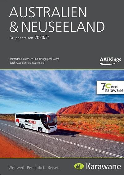 Karawane Reisen AAT Kings Australien Neuseeland Busreisen Katalog 2020