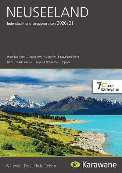 Karawane Reisen Neuseeland Katalog 2020