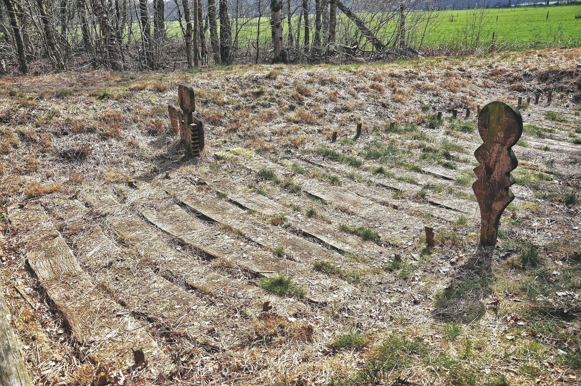 Historischer Bohlenweg im Wittemoor
