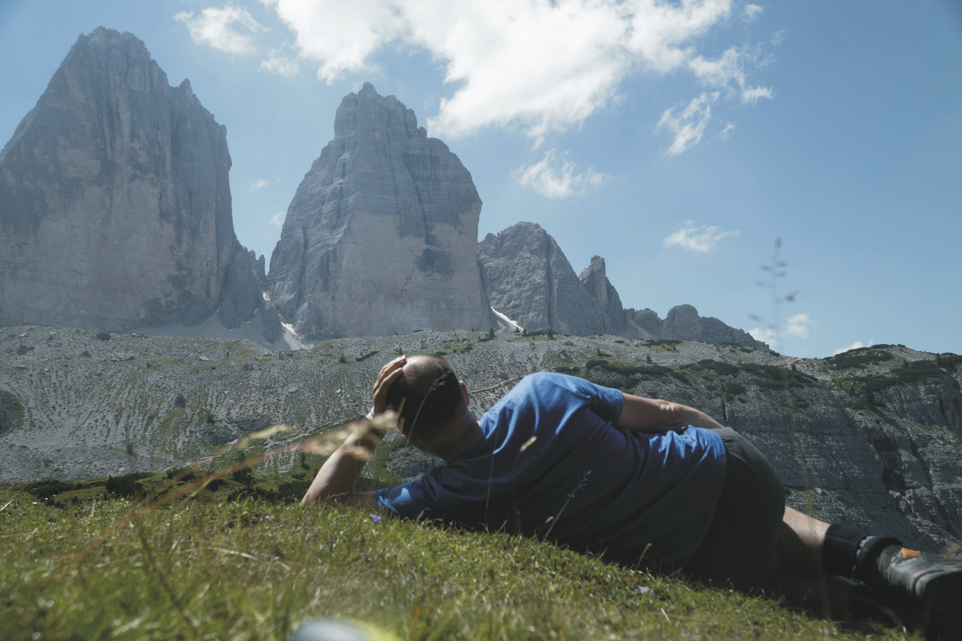 Rast mit Drei Zinnen Blick, ©Hagen Alpin Tours
