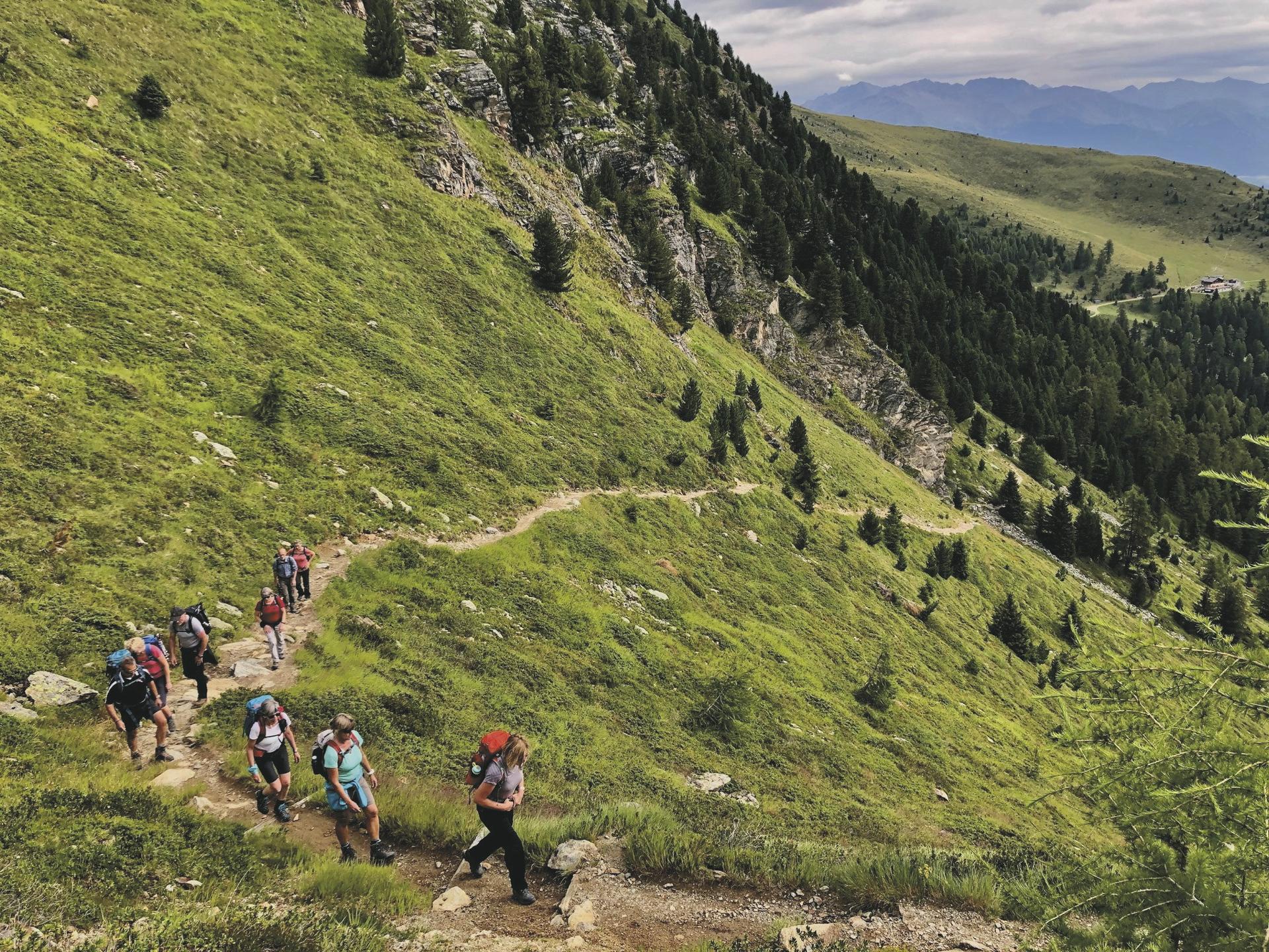 Meraner Höhenweg erste Etappe, ©Hagen Alpin Tours